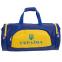 Сумка для спортзала Бочонок Украина GA-016-U (полиэстер, р-р 55х28х28см, синий-желтый) 0