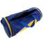 Сумка для спортзала Бочонок Украина GA-016-U (полиэстер, р-р 55х28х28см, синий-желтый) 4