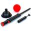 Эспандер силовой для пресса и рук Abdomen Trainer PS FI-5060 (металл, пластик, резина, l-70см, черный-красный) 2