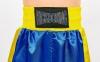 Штаны для кикбоксинга детские MATSA KICKBOXING MA-6732 (полиэстер, 6-14 лет, рост 122-152см, синий-желтая полоса) 4