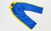 Штаны для кикбоксинга детские MATSA KICKBOXING MA-6732 (полиэстер, 6-14 лет, рост 122-152см, синий-желтая полоса) 8