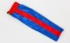 Штаны для кикбоксинга детские MATSA KICKBOXING MA-6733 (полиэстер, 6-14лет, рост 122-152см, синий-красная полоса) 8