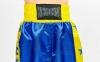 Штаны для кикбоксинга детские MATSA KICKBOXING MA-6736 (полиэстер, 6-14лет, рост 122-152см, синий-желтая полоса со звездами) 6