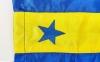 Штаны для кикбоксинга детские MATSA KICKBOXING MA-6736 (полиэстер, 6-14лет, рост 122-152см, синий-желтая полоса со звездами) 8