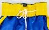Штаны для кикбоксинга детские MATSA KICKBOXING MA-6736 (полиэстер, 6-14лет, рост 122-152см, синий-желтая полоса со звездами) 10