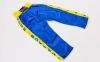 Штаны для кикбоксинга детские MATSA KICKBOXING MA-6736 (полиэстер, 6-14лет, рост 122-152см, синий-желтая полоса со звездами) 11