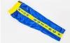Штаны для кикбоксинга детские MATSA KICKBOXING MA-6736 (полиэстер, 6-14лет, рост 122-152см, синий-желтая полоса со звездами) 12