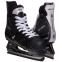 Коньки хоккейные PVC Z-0887 (р-р 37-46, лезвие-сталь, черный-белый) 0