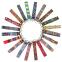 Ремень для йоги FI-6975-8 (полиэстер, р-р 183 x 3,8см, оранжевый-голубой, 1уп-1шт, цена за 1шт) 2