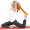 Ремень для йоги FI-6975-10 (полиэстер, р-р 183 x 3,8см, серый-голубой, 1уп-1шт, цена за 1шт) 4
