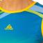 Форма для легкой атлетики женская LD-8302-1  (полиэстер, р-р L-2XL(44-50), синий-желтый-зеленый) 1