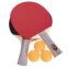 Набор для настольного тенниса 2 ракетки, 3 мяча Boli Star MT-9005 (древесина, резина, уп. блистер) 0