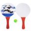 Набор ракетки и мячик для пляжного тенниса IG-5506 (дерево, PVC, размер 33x19см, 2 ракетки + 1 мячик) 0