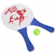 Набор ракетки и мячик для пляжного тенниса IG-5506 (дерево, PVC, размер 33x19см, 2 ракетки + 1 мячик) 5