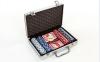 Набор для покера в алюминиевом кейсе IG-2056 на 200 фишек с номиналом (2 кол.карт,5куб) 0