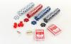 Набор для покера в алюминиевом кейсе IG-2056 на 200 фишек с номиналом (2 кол.карт,5куб) 1