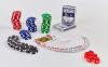 Набор для покера в алюминиевом кейсе IG-4392-100 на 100 фишек без номинала (2кол.карт, 5куб) 1