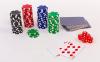 Набор для покера в алюминиевом кейсе IG-4392-100 на 100 фишек без номинала (2кол.карт, 5куб) 2