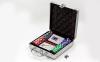 Набор для покера в алюминиевом кейсе IG-4392-100 на 100 фишек без номинала (2кол.карт, 5куб) 5