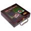 Набор для покера в деревянном кейсе IG-6641 на 100 фишек с номиналом (2 кол.карт,5куб) 3