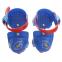 Роликовые коньки раздвижные (квады) Record K01 размер 25-30 красный, синий 3