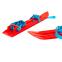 Лыжи детские C-4674 Гном (l-лыж-45 см, без палок, крепл. нерегул., красный-голубой 3