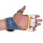 Перчатки для смешанных единоборств MMA кожаные UFC TrueThai UTT-75399 (р-р S-M, синий-белый) 0