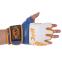 Перчатки для смешанных единоборств MMA кожаные UFC TrueThai UTT-75399 (р-р S-M, синий-белый) 1
