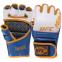 Перчатки для смешанных единоборств MMA кожаные UFC TrueThai UTT-75399 (р-р S-M, синий-белый) 2