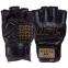 Перчатки для смешанных единоборств MMA кожаные UFC PRO Prem UHK-75059 (р-р L-XL, черный) 2