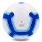 Мяч для футзала №4 Клееный-PVC PREMIER LEAGUE 2018-2019 FB-7273 (белый-синий) Дубл 1