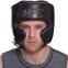 Шлем боксерский в мексиканском стиле кожаный UFC PRO Prem Lace Up UHK-75056 (р-р L-XL, черный) 4