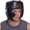 Шлем боксерский в мексиканском стиле кожаный UFC PRO Prem Lace Up UHK-75056 (р-р L-XL, черный) 5