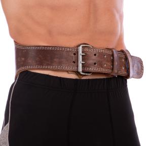 Пояс атлетический кожаный VELO VL-8181 (ширина-6in (15см), р-р M-XXL длина 110-125см, с подкладкой для спины)
