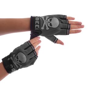 Велоперчатки с открытыми пальцами Skull BC-4622 размер L цвета в ассортименте