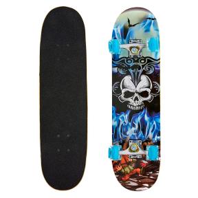 Скейтборд в сборе (роликовая доска) SK-0314 (колесо-PU светящ., р-р деки 78х20х1,2см, АВЕС-7, цвета в ассортименте)
