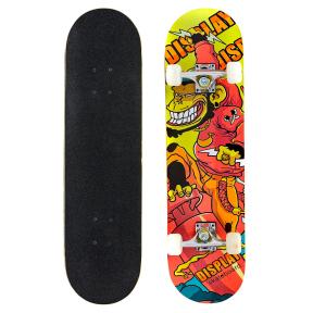 Скейтборд в сборе (роликовая доска) SK-0315 (колесо-PU, р-р деки 78х20х1,2см, АВЕС-7, цвета в ассортименте)