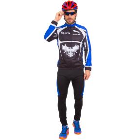 Велоформа длинный рукав утепленная PANTHER NA-LJ-1404 XL-XXL черный-синий