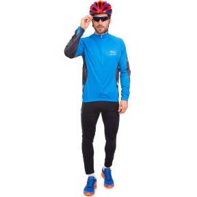 Велоформа длинный рукав утепленная PANTHER NA-LP-1393 (р-р XL-XXL (46-52), черный-голубой)