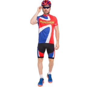 Велоформа короткий рукав PANTHER NA-1392 (р-р XL-XXL (46-52), красный-синий)