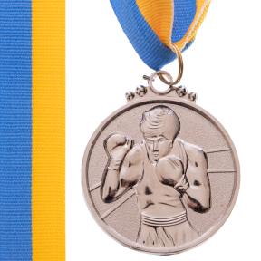 Медаль спортивная с лентой SP-Sport Бокс C-4337 золото, серебро, бронза
