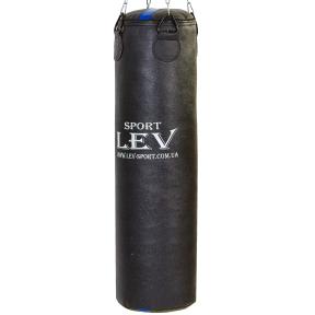 Мешок боксерский Цилиндр Кирза h-120см LEV UR LV-2810 (наполнит.-ветошь, d-33см,вес-50кг, черный)