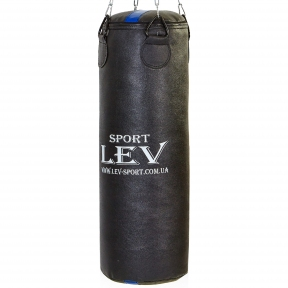 Мешок боксерский Цилиндр Кирза h-85см LEV UR LV-2805 (наполнит.-ветошь, d-28см, вес-20кг, черный)