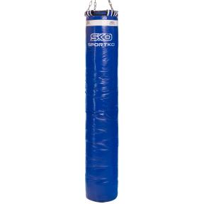 Мешок боксерский Цилиндр с кольцом и цепью ПВХ h-180см SPORTKO MP-4090 (рез.крош,тырса,d-30см,50кг, цвета в ассортименте)