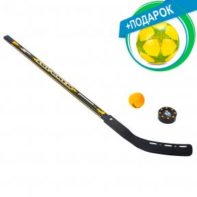 Клюшка, шайба, мяч для игры на льду и на траве TG-3101-BA-3931 + подарок (Мяч резиновый Star)