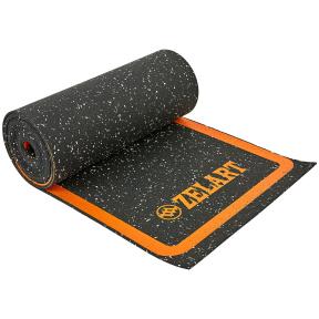 Координационная лестница коврик в рулоне для тренировки скорости FI-7220 4,5м черный-оранжевый