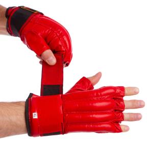 Снарядные перчатки кожаные ZELART ZB-4011 размер M-XL цвета в ассортименте