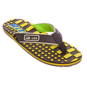 Вьетнамки для мальчиков KITO EC4223-BLACK-YELLOW размер 32-35 черный-желтый