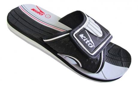 Шлепанцы подростковые KITO KWE720-BLACK размер 36-39 черный-белый
