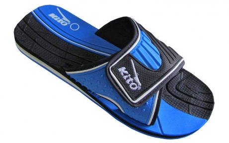 Шлепанцы подростковые KITO KWE720-D.BLUE размер 36-39 черный-синий